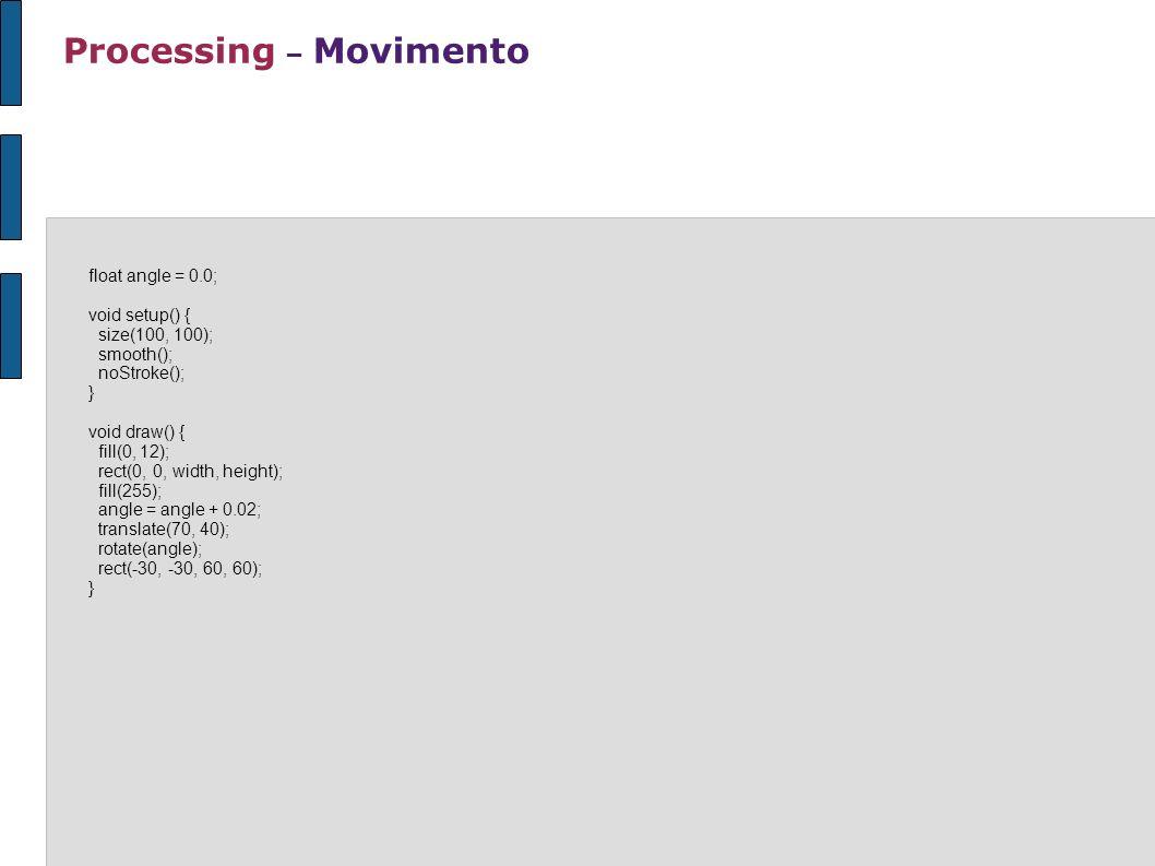 Processing – Movimento