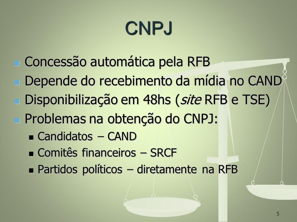 CNPJ Concessão automática pela RFB