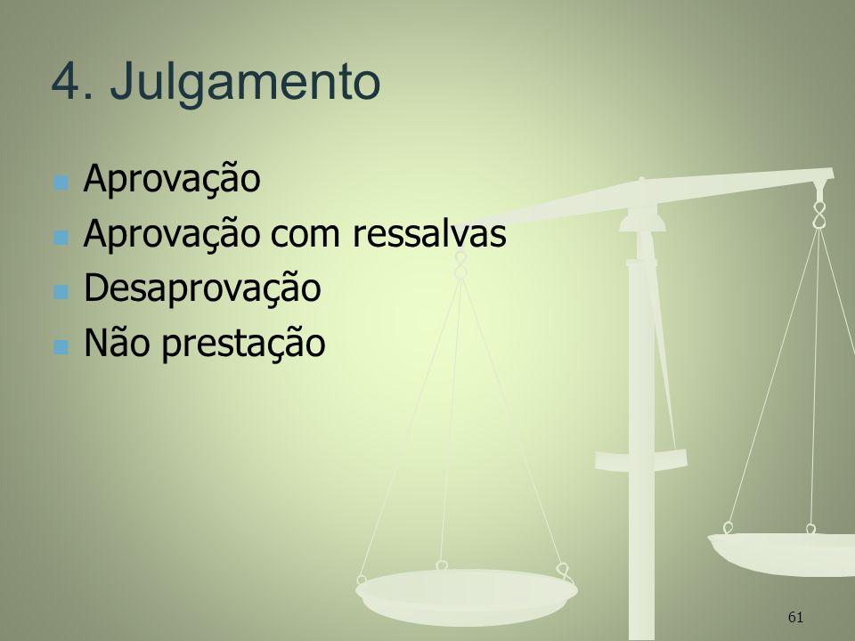 4. Julgamento Aprovação Aprovação com ressalvas Desaprovação
