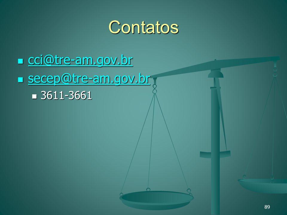 Contatos cci@tre-am.gov.br secep@tre-am.gov.br 3611-3661