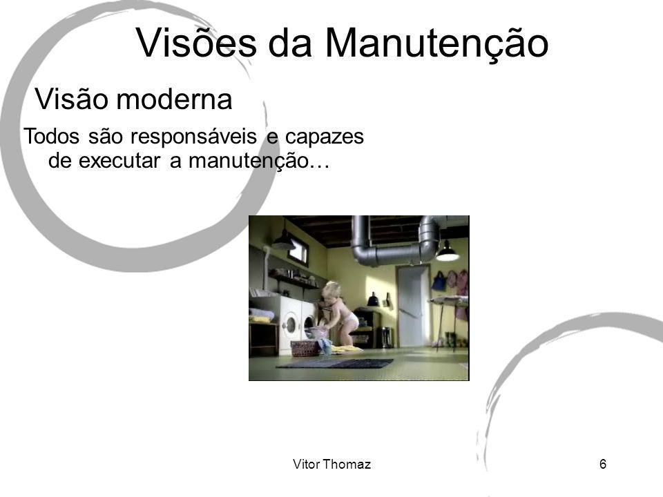 Visões da Manutenção Visão moderna