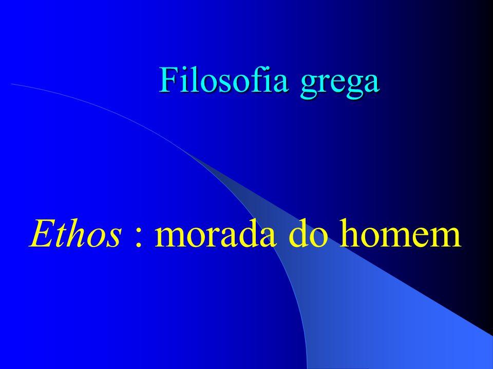 Filosofia grega Ethos : morada do homem