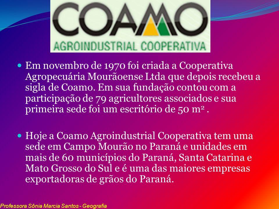 Em novembro de 1970 foi criada a Cooperativa Agropecuária Mourãoense Ltda que depois recebeu a sigla de Coamo. Em sua fundação contou com a participação de 79 agricultores associados e sua primeira sede foi um escritório de 50 m2 .