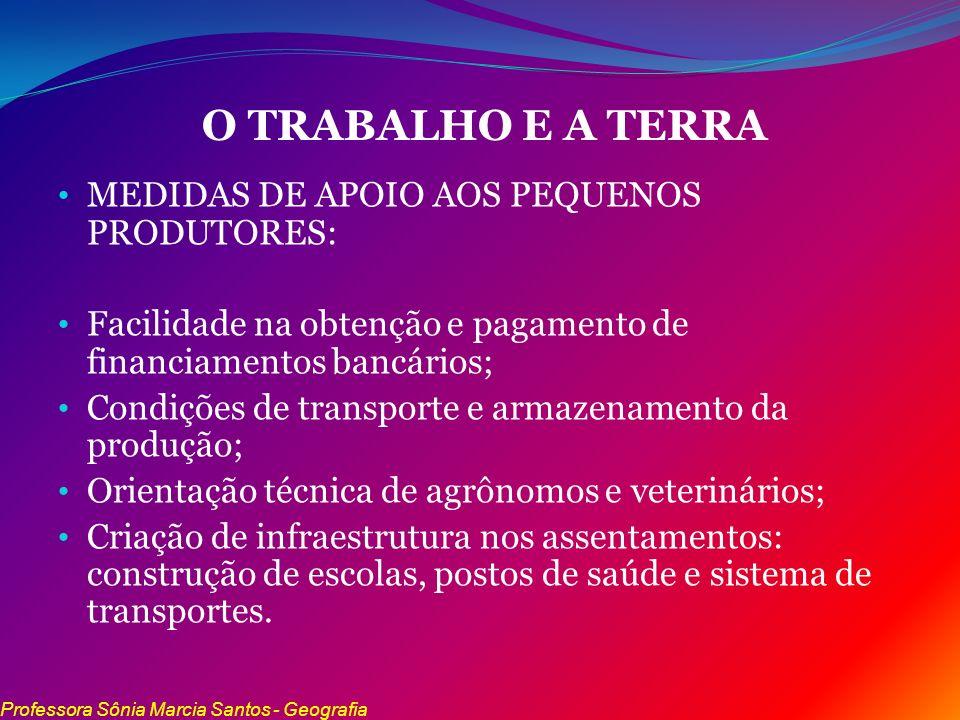 O TRABALHO E A TERRA MEDIDAS DE APOIO AOS PEQUENOS PRODUTORES: