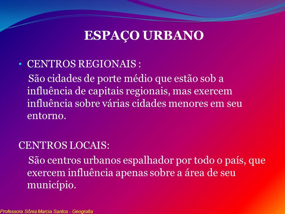 ESPAÇO URBANO CENTROS REGIONAIS :