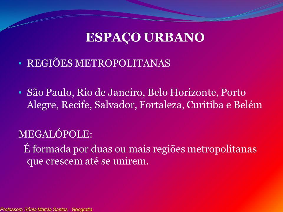 ESPAÇO URBANO REGIÕES METROPOLITANAS