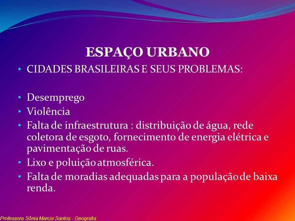 ESPAÇO URBANO CIDADES BRASILEIRAS E SEUS PROBLEMAS: Desemprego