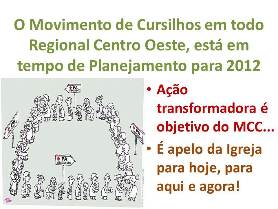 O Movimento de Cursilhos em todo Regional Centro Oeste, está em tempo de Planejamento para 2012