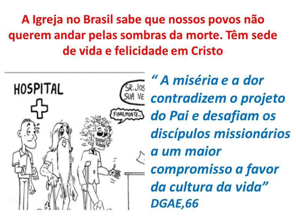 A Igreja no Brasil sabe que nossos povos não querem andar pelas sombras da morte. Têm sede de vida e felicidade em Cristo