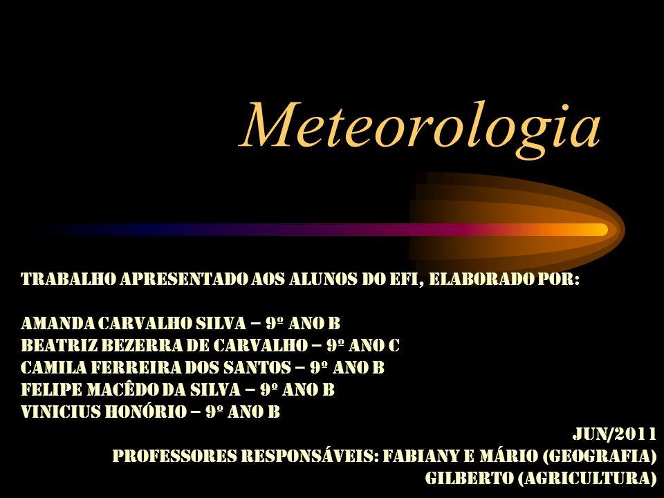 Meteorologia Trabalho apresentado aos alunos do EFI, elaborado por:
