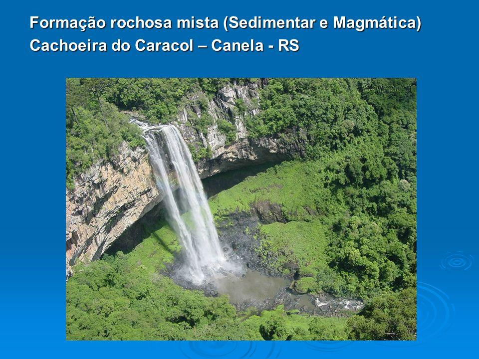 Formação rochosa mista (Sedimentar e Magmática)