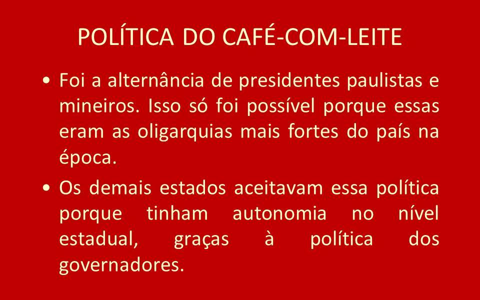 POLÍTICA DO CAFÉ-COM-LEITE