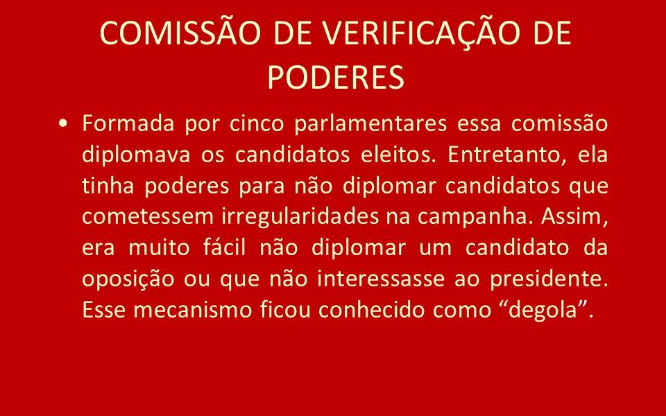 COMISSÃO DE VERIFICAÇÃO DE PODERES