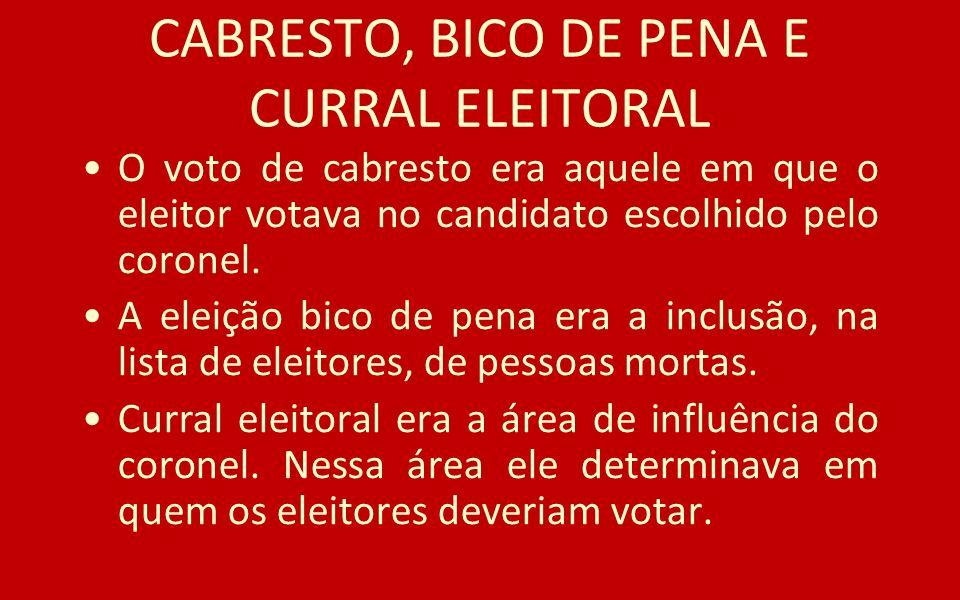 CABRESTO, BICO DE PENA E CURRAL ELEITORAL