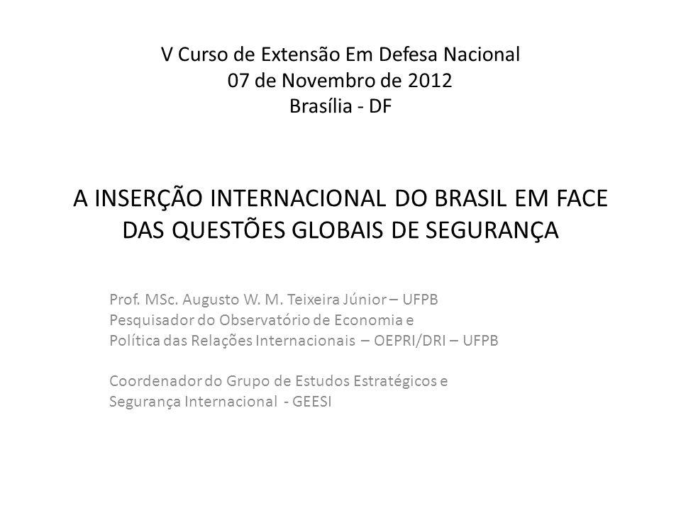 V Curso de Extensão Em Defesa Nacional 07 de Novembro de 2012