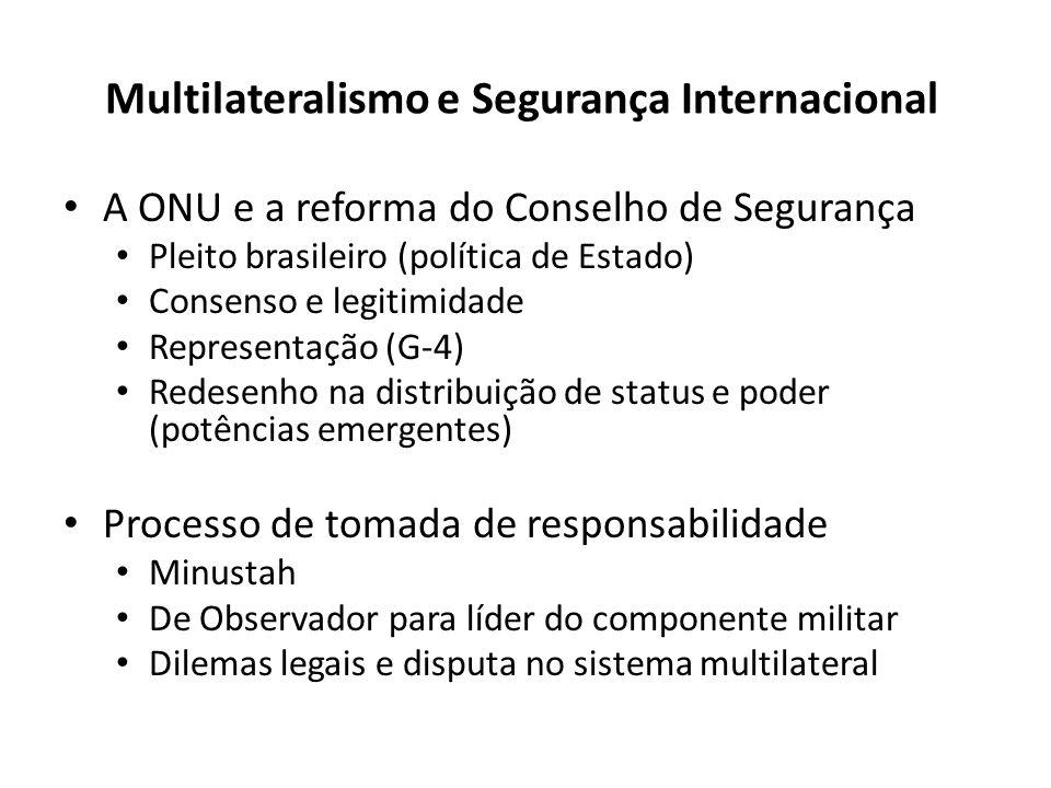 Multilateralismo e Segurança Internacional