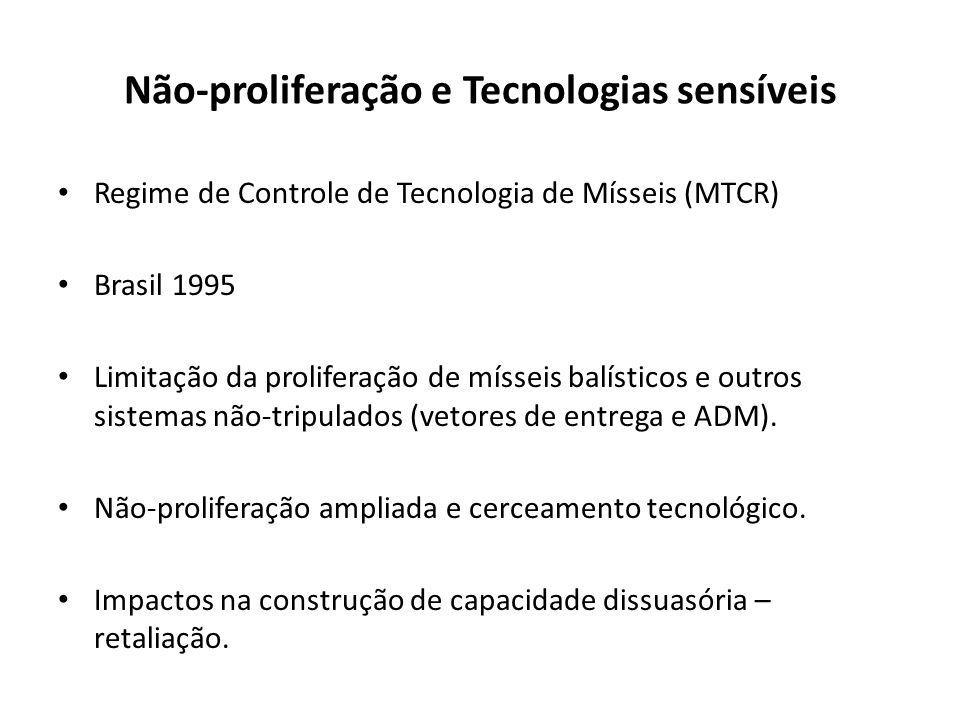 Não-proliferação e Tecnologias sensíveis