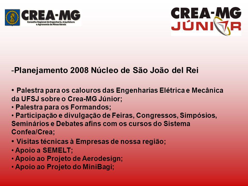 Planejamento 2008 Núcleo de São João del Rei