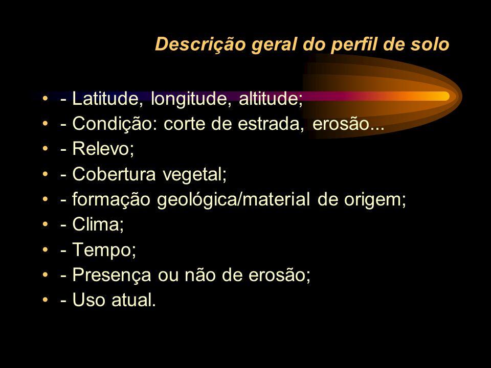 Descrição geral do perfil de solo
