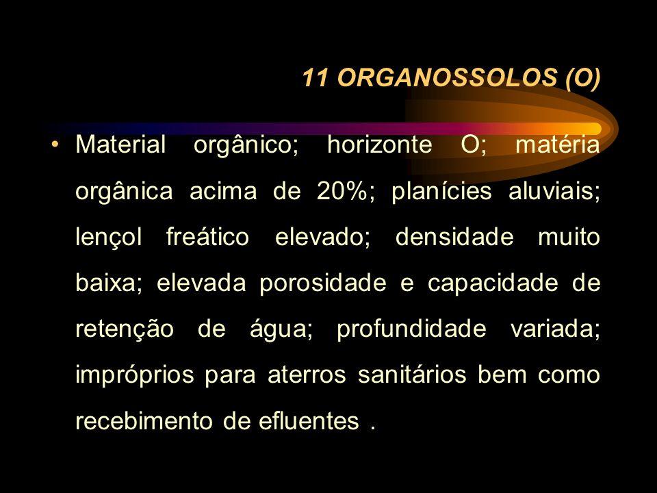 11 ORGANOSSOLOS (O)