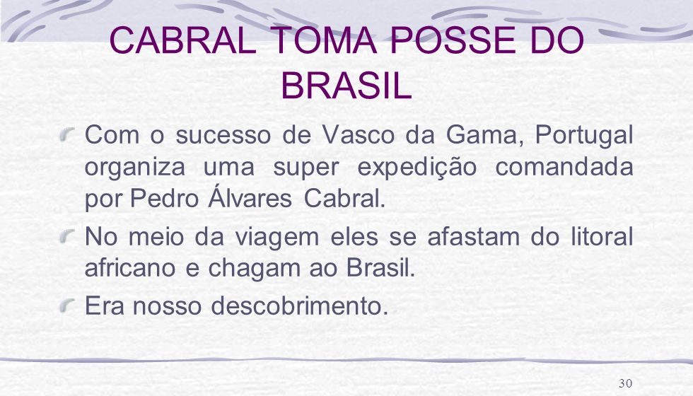 CABRAL TOMA POSSE DO BRASIL