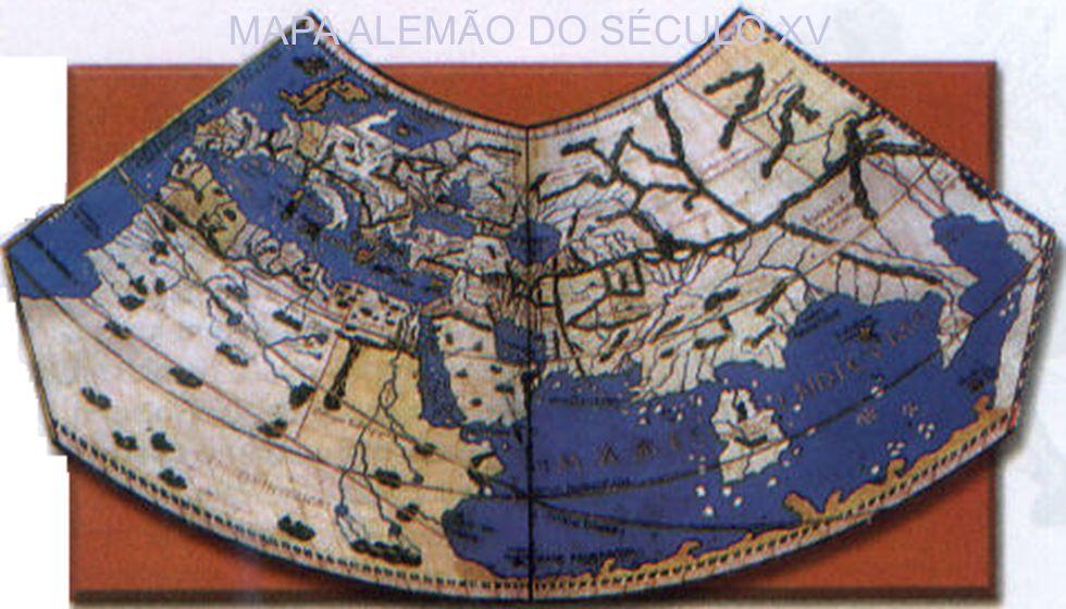 MAPA ALEMÃO DO SÉCULO XV