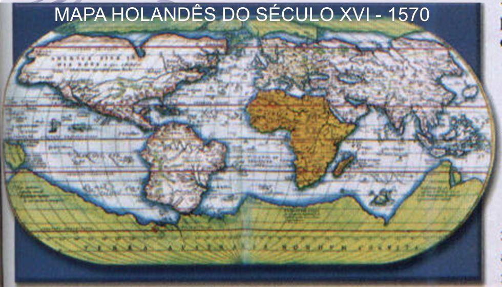 MAPA HOLANDÊS DO SÉCULO XVI - 1570