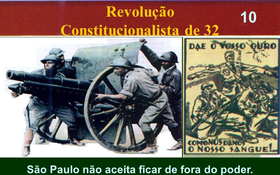 Constitucionalista de 32 São Paulo não aceita ficar de fora do poder.