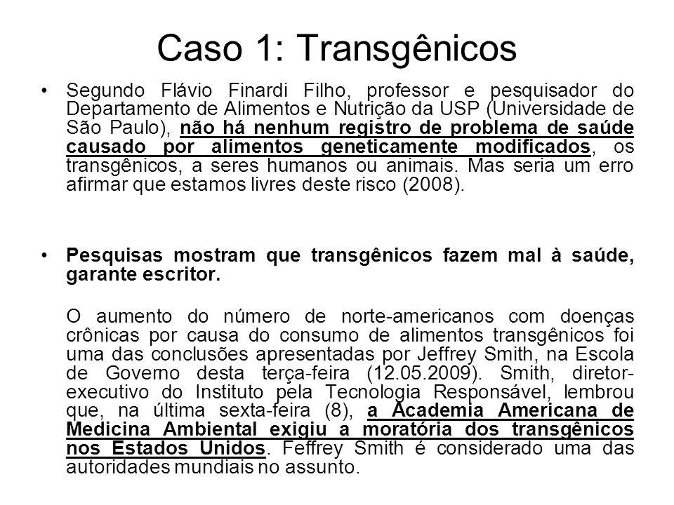 Caso 1: Transgênicos