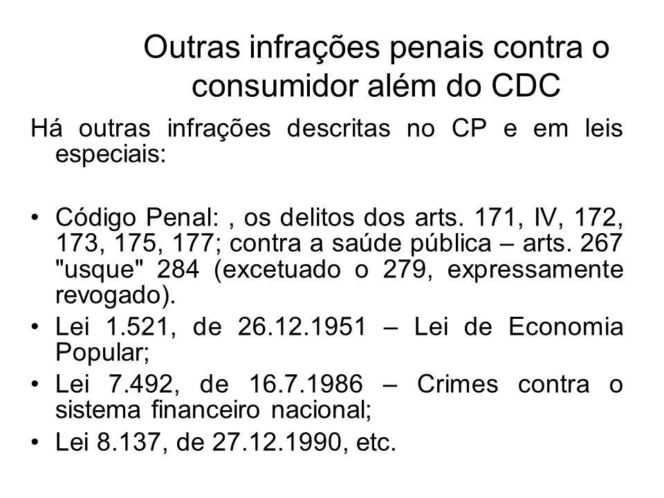 Outras infrações penais contra o consumidor além do CDC
