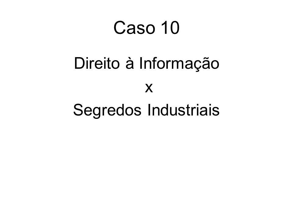 Caso 10 Direito à Informação x Segredos Industriais