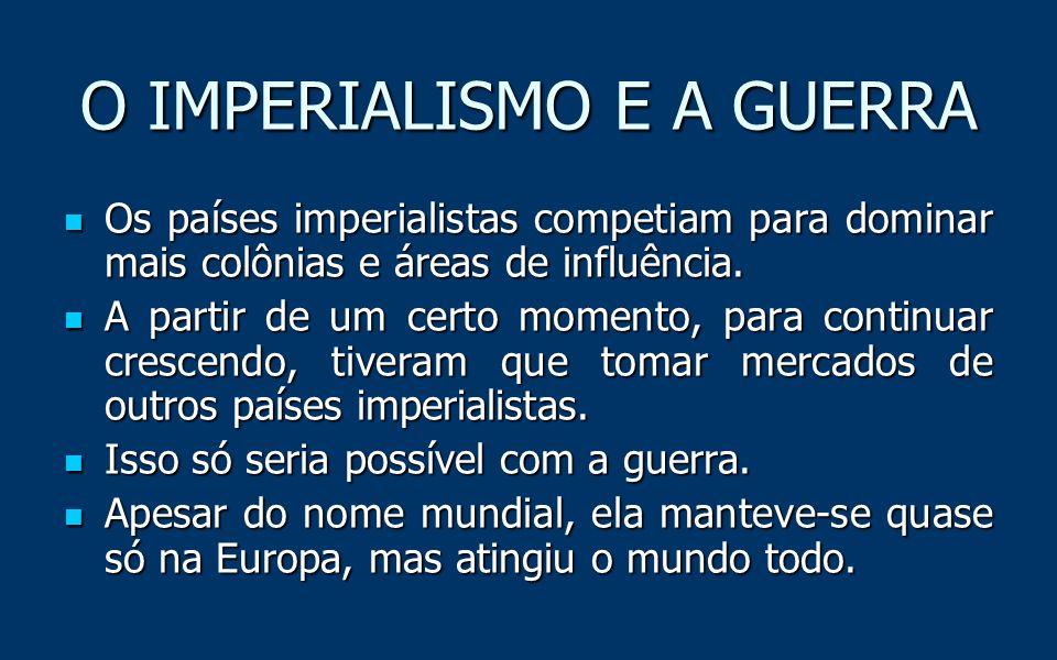O IMPERIALISMO E A GUERRA