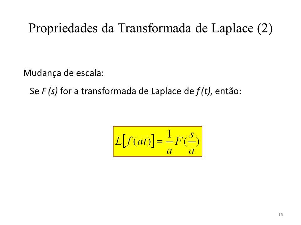 Propriedades da Transformada de Laplace (2)