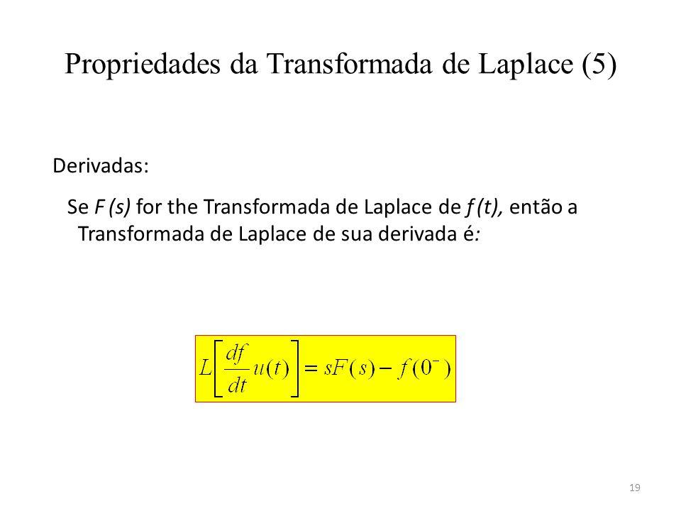 Propriedades da Transformada de Laplace (5)