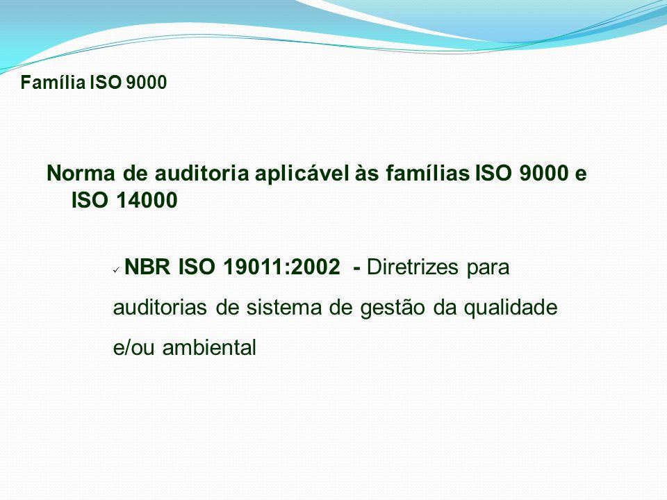 Norma de auditoria aplicável às famílias ISO 9000 e ISO 14000