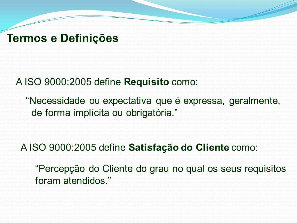 Termos e Definições A ISO 9000:2005 define Requisito como:
