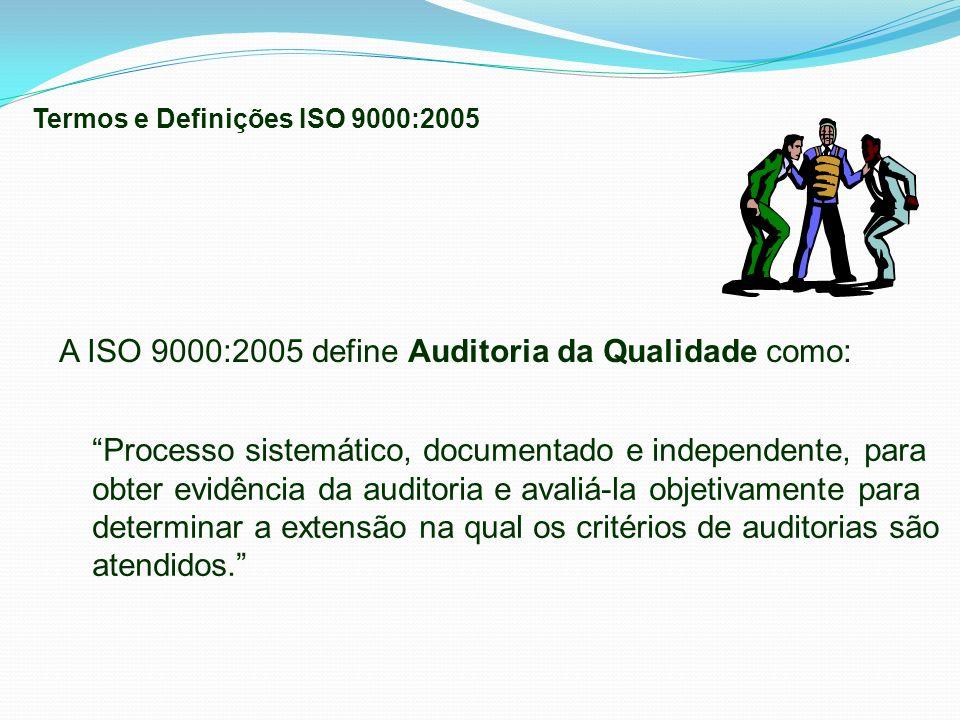 A ISO 9000:2005 define Auditoria da Qualidade como: