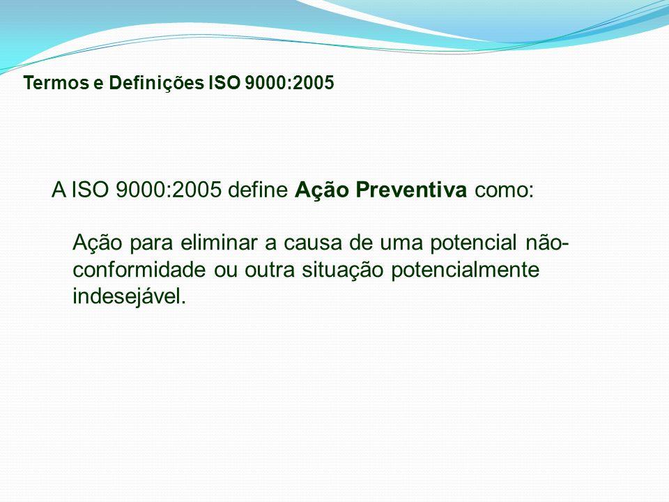 A ISO 9000:2005 define Ação Preventiva como: