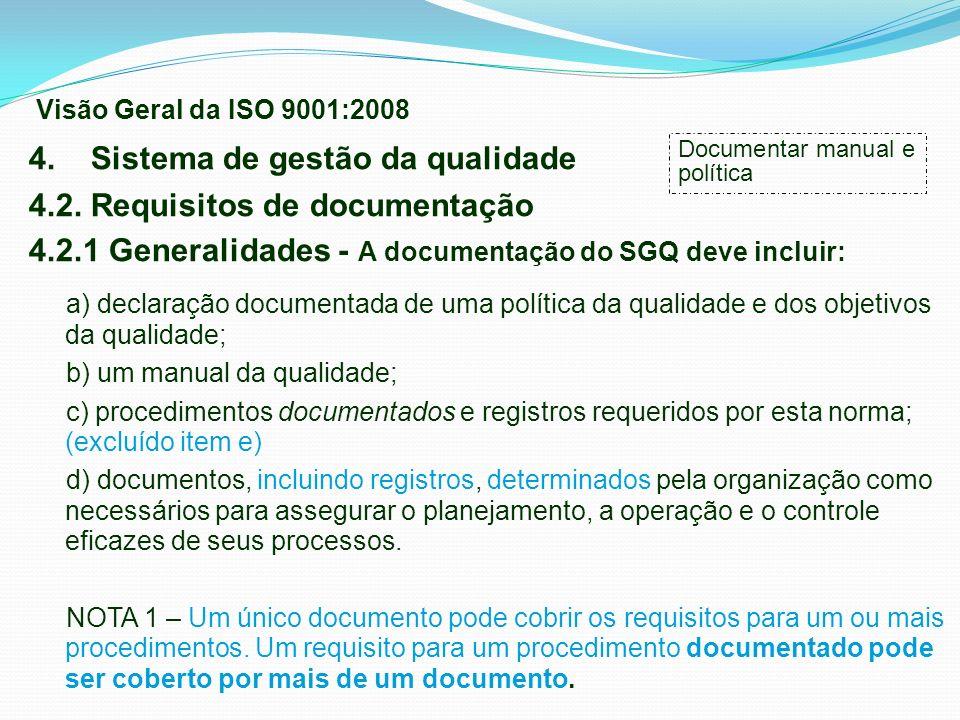 4. Sistema de gestão da qualidade 4.2. Requisitos de documentação