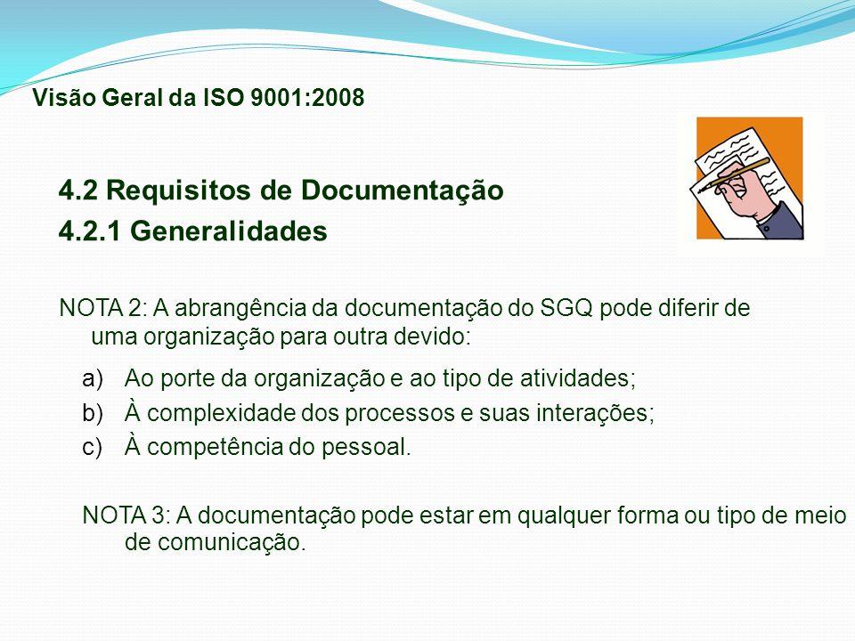 4.2 Requisitos de Documentação 4.2.1 Generalidades