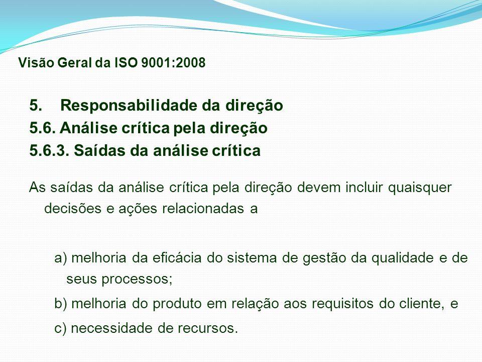 5. Responsabilidade da direção 5.6. Análise crítica pela direção