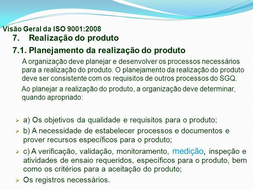 7.1. Planejamento da realização do produto