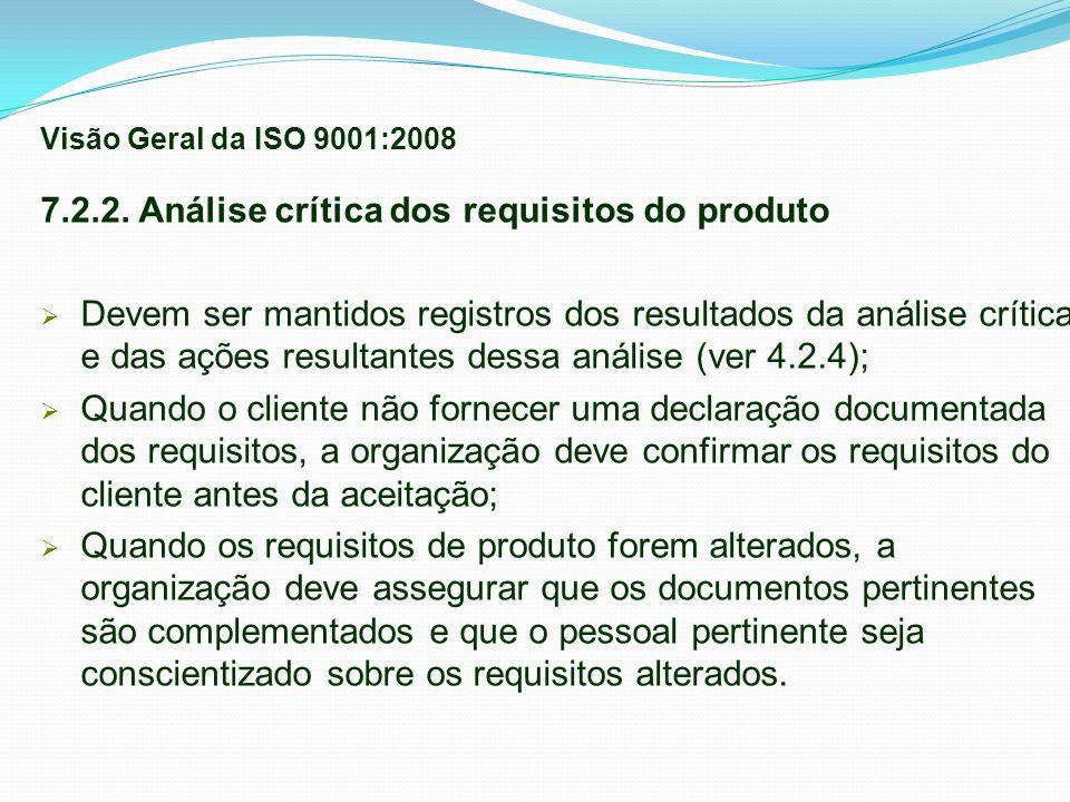 7.2.2. Análise crítica dos requisitos do produto