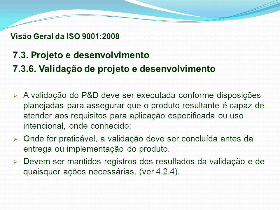 7.3. Projeto e desenvolvimento
