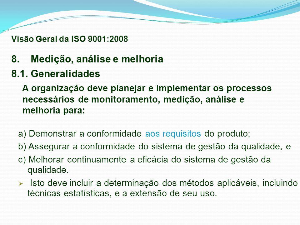 8. Medição, análise e melhoria 8.1. Generalidades