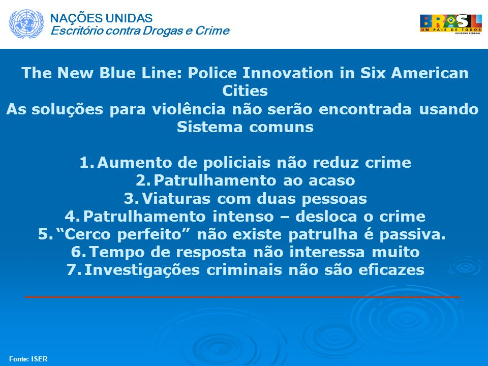 The New Blue Line: Police Innovation in Six American Cities
