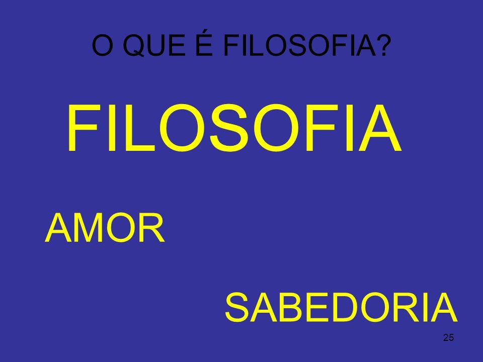 FILOS SOFIA AMOR SABEDORIA O QUE É FILOSOFIA Filosofia 24/03/2017