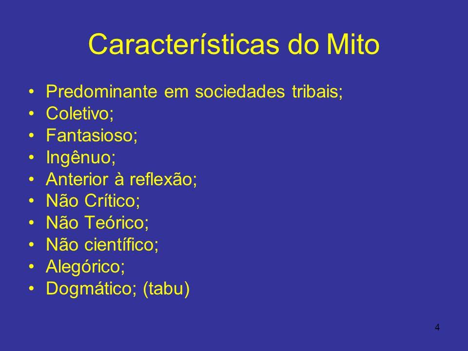 Características do Mito
