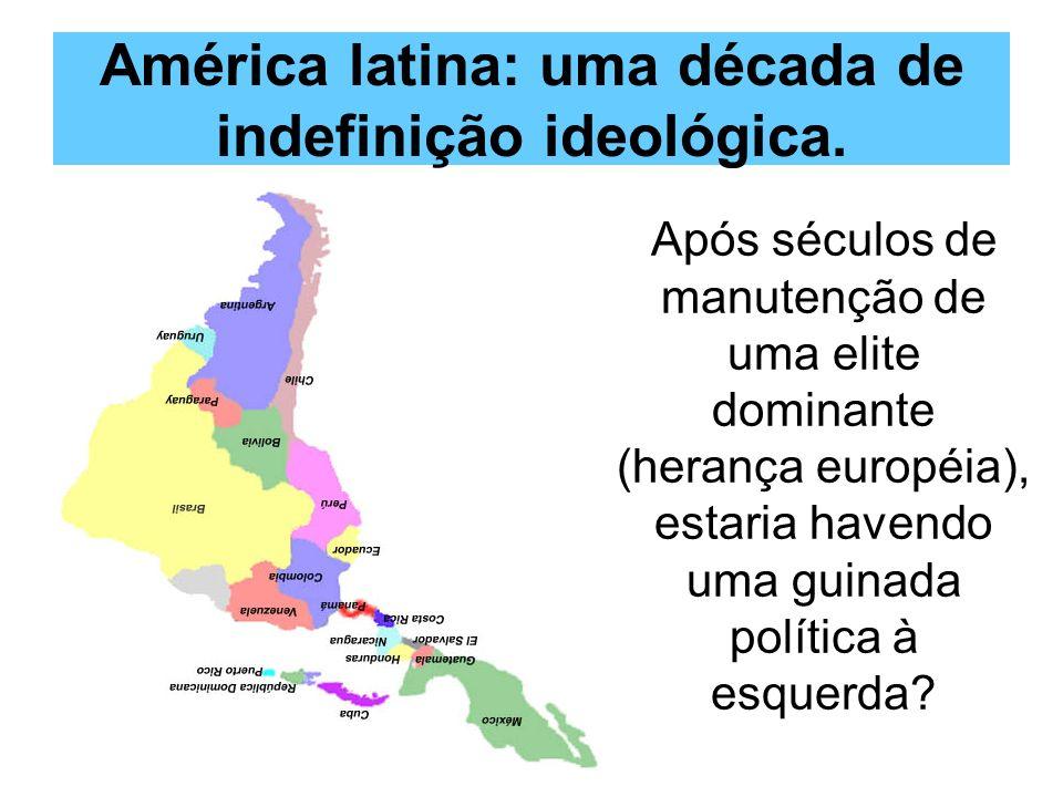 América latina: uma década de indefinição ideológica.