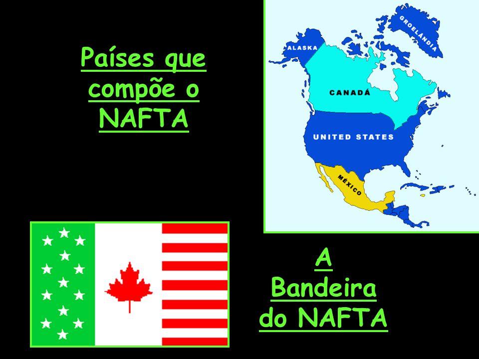Países que compõe o NAFTA